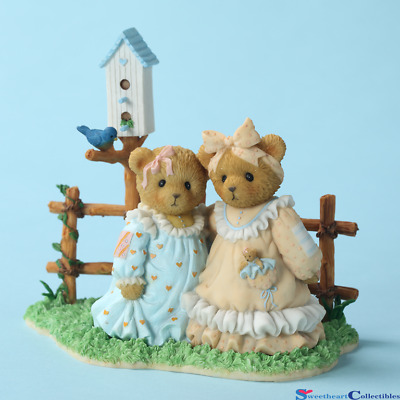 Cherished Teddies Sisters by the Fence  Alice & Greta Sister