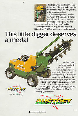 Vintage 1988 AUSTOFT MUSTANG TR14 MINI TRENCHER Advertisement