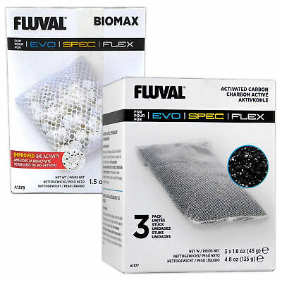 Fluval Spec/Flex BioMax & Carbon Media Multi-Pack A1378 & A1377 aquarium tank