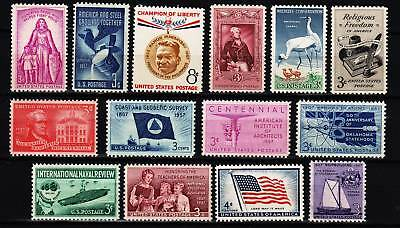 1957 Commemorative Year set  (14 Stamps) - MNH