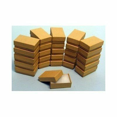 """20  Kraft Cotton Filled Jewelry Craft bracelet earring chain Gift Boxes 3 1/4"""""""