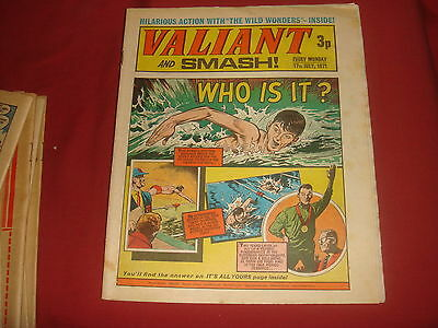 VALIANT & SMASH  UK Comic - 17th July 1971