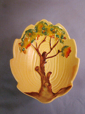 RARE ANTIQUE VINTAGE 1930 CARLETONWARE CARLTON WARE OAK DESIGN DISH  ACORN TREE