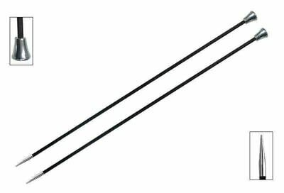 KnitPro Karbonz Straight / Single Point Knitting Needles - 35cm / 14 inch pair
