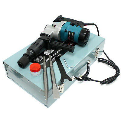"3000BPM 900W 1-1/2"" Electric Demolition Hammer Concrete Breaker W/Chisels Bits"