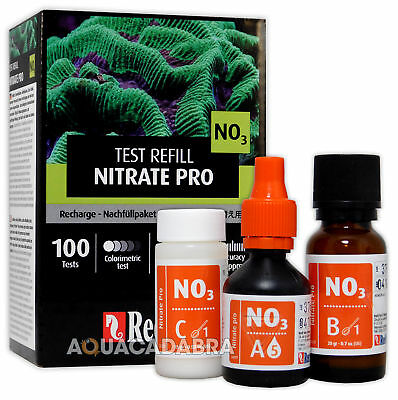 Red Sea Nitrate Pro Refill Test Kit 100 No3 Tests Fish Tank Aquarium Algae