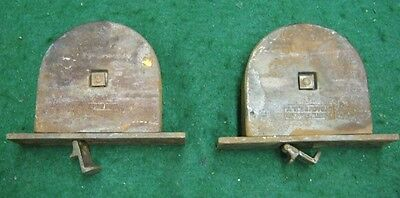 Pair of Antique Window Sash Pulley Strap Lift System Cast Iron Stearns      5240