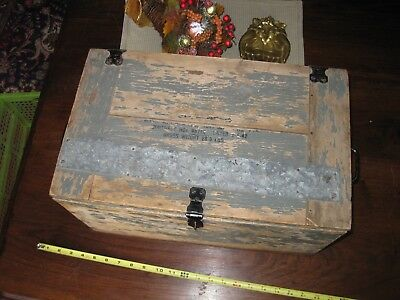 1942 US Gray Military Instrument Box WWII