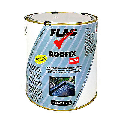 Roofix 20/10 Roof & Gutter Repair, 2.5 litres Black,Grey,White,Solar Reflective
