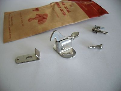Vintage Cabinet Door Catch Elbow Rooster Nickel Plated NOS Hoosier Boat Trailer
