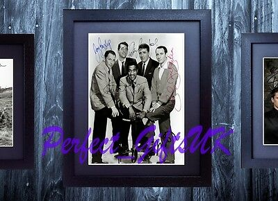 THE RAT PACK SIGNED FRAMED & MOUNTED 10x8 REPRO PHOTO PRINT
