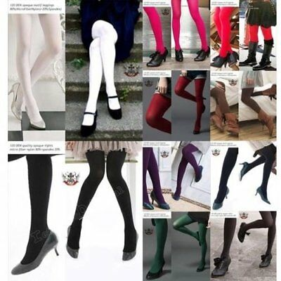 COLOR 120 Den Monochrome Opaque TightsPantyhose MATTE