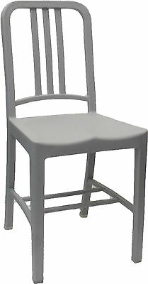 Dining Chair PLASTIC Replica Emeco US Navy Retro Cafe Chairs Seats GREY