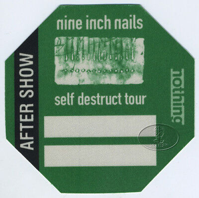 Nine Inch Nails 1994 Self Destruct Backstage Pass Aso