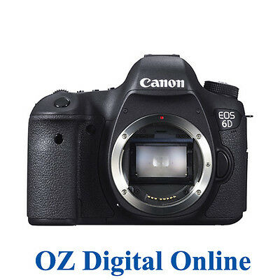 New Canon EOS 6D 20.2MP Full Frame DSLR Camera Body 1 Yr Au Wty
