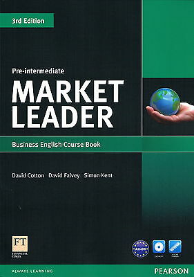 MARKET LEADER Pre-Intermediate Business English Course Book w DVD-ROM 3rd Ed NEW