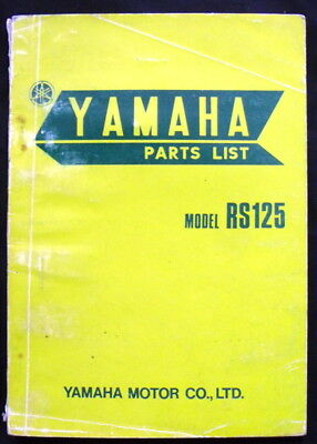 Yamaha Rs125 Motorcycle Parts List 1974 #479-28199-05