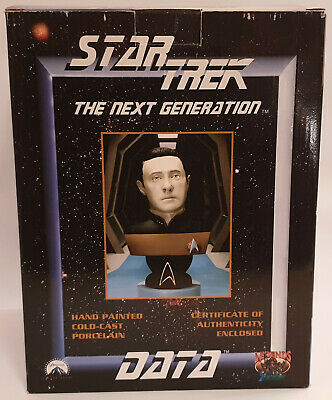 Star Trek : Data Hand Cold Cast Porcelain Bust Made In 1998