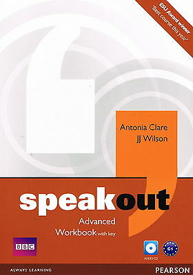SPEAKOUT Advanced Workbook with Key & Audio CD | A Clare JJ Wilson @NEW BOOK@