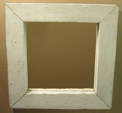 Chunky White Shabby chic Wood Mirror Salvaged Architectural  1169-12