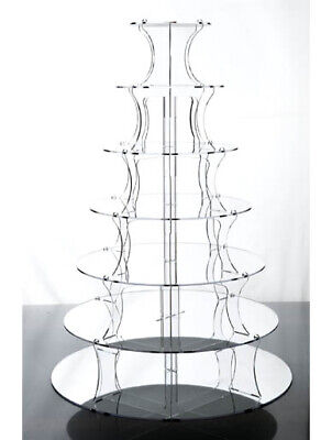 Mirror Effect 7 Tier Cake & Party Cupcake Stand