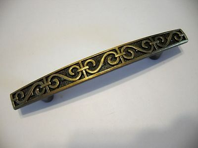 Vintage NOS Antique Brass DRAWER PULLS Door Dresser Cabinet ornate trunk Amerock