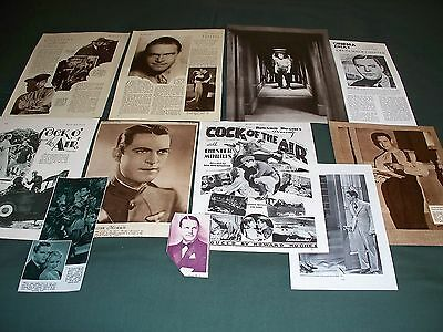 Chester Morris  - Film Star - Clippings - Cuttings Pack