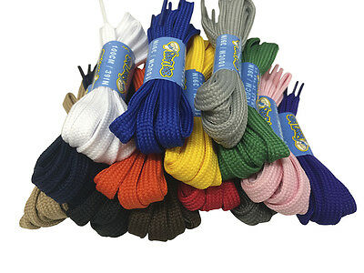 FLAT STRONG SHOELACES BOOTLACES - 6 LENGTHS - 7 COLOURS - FREE 1st CLASS P&P!
