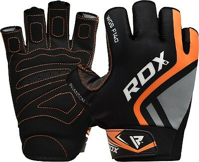 RDX Cowhide Leather Weight Lifting Gym Gloves Grip Fitness Yoga Training Workout