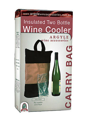 Two Bottle Wine Carry Bag With Reusable Ice Pack