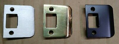 """Extended Lip Strike plate 2"""" Satin Nickel Oil rubbed Bronze Polished Brass Door"""