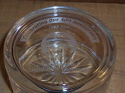 Vintage Gerber Life Insurance Co Celebrating 40th Anniversary Advertising Dish