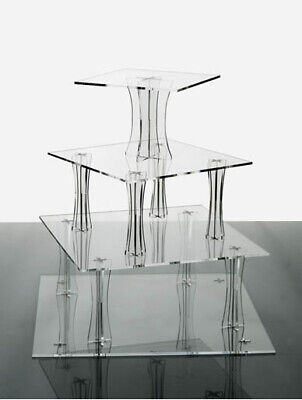 Cake Stand 4 Tier Clear Spiral Shaped Acrylic Party Cup NEW