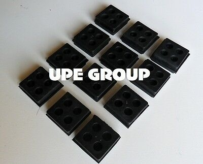 """12 pack of anti vibration pads speaker vibration isolation 2""""x2""""x3/4"""" all rubber"""