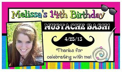 12 MUSTACHE MOUSTACHE BIRTHDAY PARTY FAVORS PHOTO MAGNETS