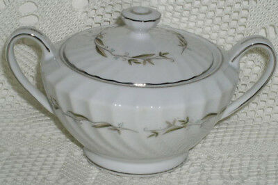 Fine China Japan Lorraine 8212 Sugar Bowl with Lid Excellent