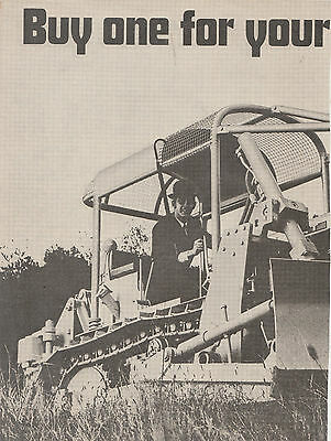 Vintage 1970 2 pg FIAT AT7C CRAWLER TRACTOR Advertisement