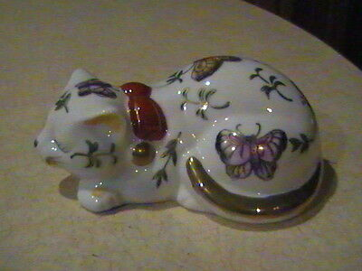 Andrea By Sadek Cat Figurine Butterflies Japan