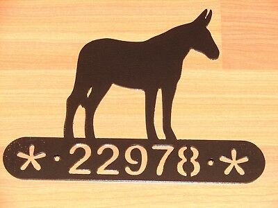 Donkey Mule Metal Home Address Sign  Wall Decor House