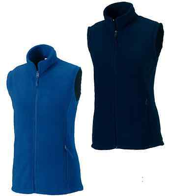 Russell Ladies Womens NAVY DARK or ROYAL MID BLUE Fleece Gilet Bodywarmer Vest