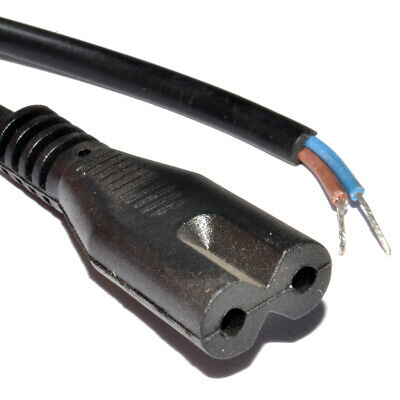 2m Power Cord C7 Figure 8 Fig of 8 Lead to Bare End Cable [006148]