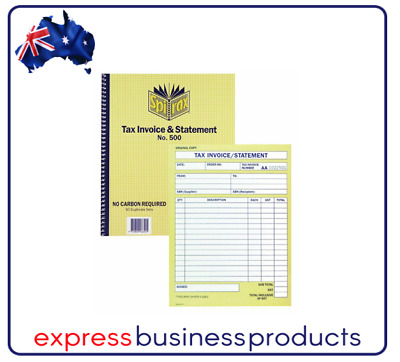 2 Pack Spirax #500 Tax Invoice & Statement Book Carbonless - EA56500
