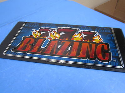 "Bally Gaming 777 Blazing 1993 9"" x 9 1/2"" Slot Machine Glass Design Blue"