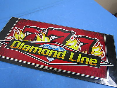 "Bally Gaming Blazing 777 Diamond Line 9"" x 9 1/2"" Slot Machine Glass Design"