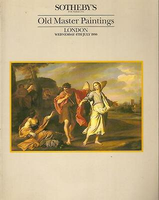 Sotheby's Sale Thistle Old Master Paintings London Auction Catalog 1990