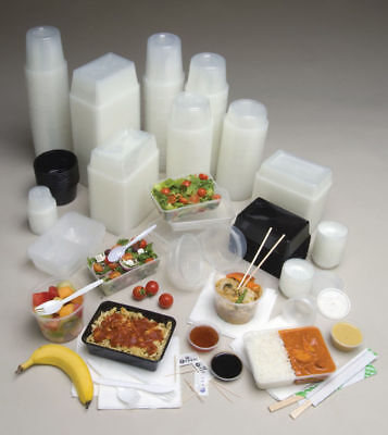 1000pc PLASTIC TAKEAWAY BOXES CONTAINERS 1000ML LIDS clear take away bulk new