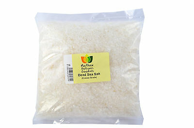 DEAD SEA SALTS from Israel in Coarse or Fine Mother Natures Goodies OFFICIAL