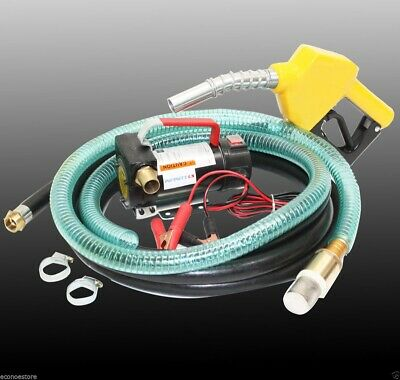 12V Bio Diesel Kerosene Fuel Transfer Direct Pump Kit W/Automatic Nozzle 12'hose