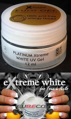 Professional PLATINUM Xtreme White French UV Gel Gel Paint Made in Germany NEW