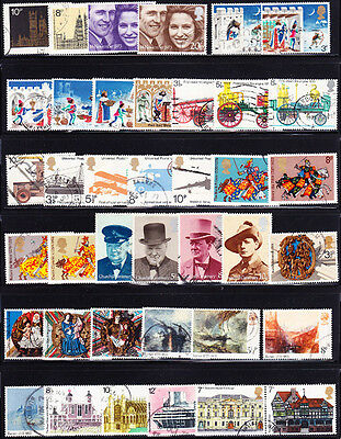 Great Britain #705//801 Used 79 Different 1973-1976 Issues, Cv$24.05 - Do37